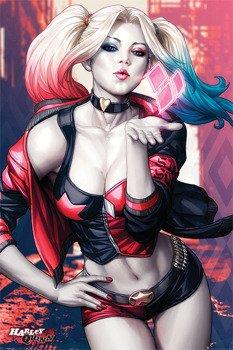 plakat BATMAN - HARLEY QUINN KISS