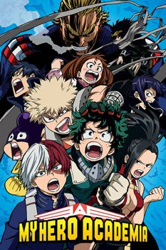 plakat MY HERO ACADEMIA - COBALT BLAST GROUP