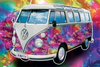 plakat VW CALIFORNIAN CAMPER - LOVE