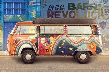 plakat VW  CAMPER - CUBA
