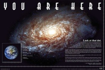 plakat YOU ARE HERE - SPACE