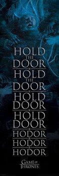 plakat na drzwi GAME OF THRONES - HOLD THE DOOR