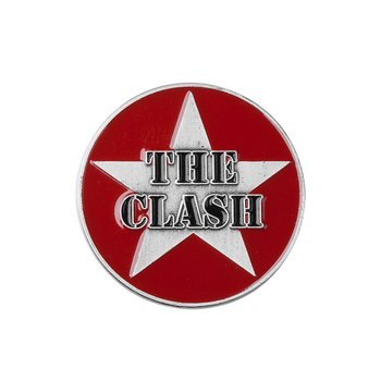 przypinka THE CLASH - MILITARY LOGO