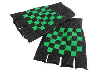 rękawiczki DARKSIDE - GREEN CHECKERBOARD, bez palców