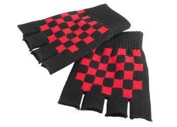 rękawiczki DARKSIDE - RED CHECKERBOARD, bez palców