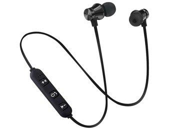 słuchawki bezprzewodowe BLUETOOTH DOUSZNE BLACK 4.0, do biegania