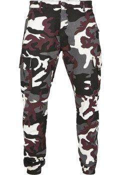 spodnie bojówki CAMO CARGO JOGGING PANTS 2.0 winecamo