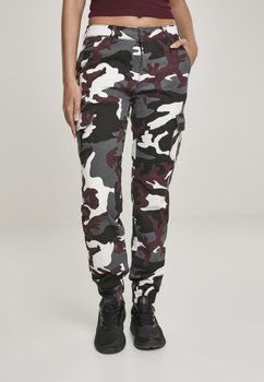 spodnie bojówki damskie HIGH WAIST CAMO winecamo