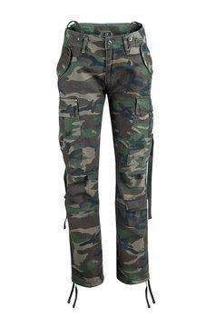 spodnie bojówki damskie M65 woodland
