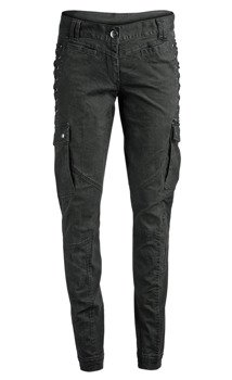 spodnie bojówki damskie MIDNIGHT BONDAGE BLACK