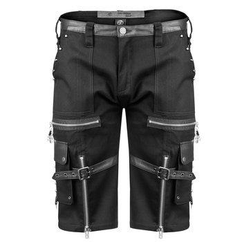 spodnie bojówki krótkie GOTHIC SHORTS - BLACK