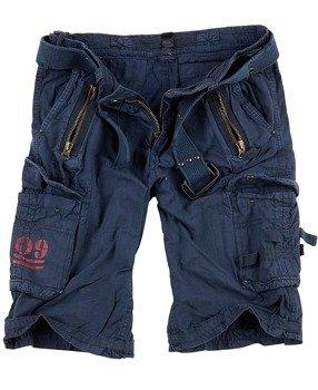 spodnie bojówki krótkie ROYAL SHORTS - ROYALBLUE