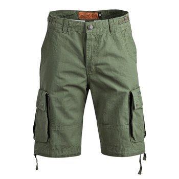 spodnie bojówki krótkie WEST COAST CHOPPERS - CAINE RIPSTOP CARGO SHORT olive