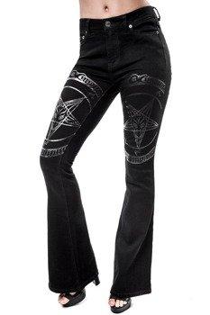 spodnie dzwony KILLSTAR - HELL HOUND FLARES