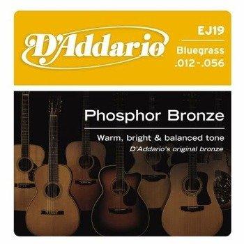 struny do gitary akustycznej D'ADDARIO - Bluegrass EJ19 /012-056/