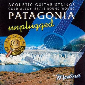 "struny do gitary akustycznej MEDINA PATAGONIA ""unplugged"" - 85/15 GOLD Medium Light /012-054/"