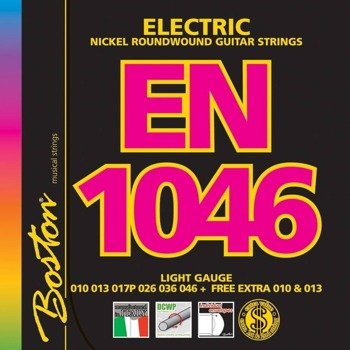 struny do gitary elektrycznej BOSTON EN-1046 NICKEL ROUNDWOUND /010-046/