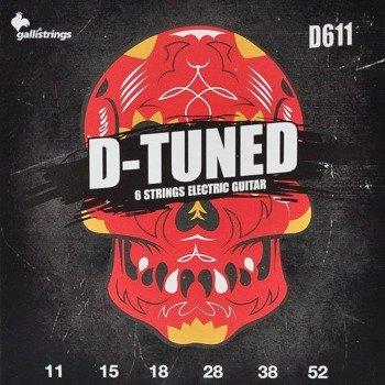 struny do gitary elektrycznej GALLI STRINGS - D-TUNED D611 obniżony strój /011-052/