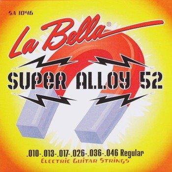 struny do gitary elektrycznej LA BELLA SA1046 Super Alloy 52 / REGULAR /010-046/