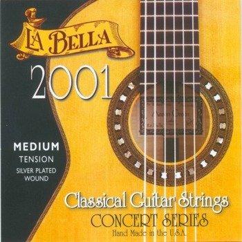 "struny do gitary klasycznej LA BELLA 2001M ""CONCERT"" Medium Tension"