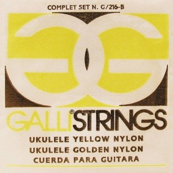 struny do ukulele sopranowego GALLI G-216-Y Yellow Nylon