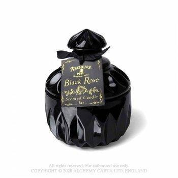 świeca zapachowa BLACK ROSE, small round