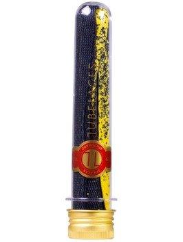 sznurowadła TUBELACES - GOLD FLAT SPLATTER YELLOW/BLACK (130 cm)