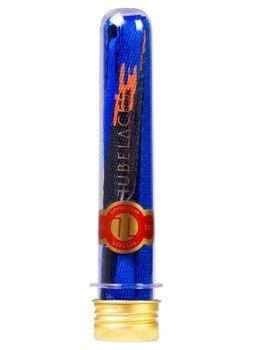 sznurowadła TUBELACES - GOLD FLAT SWEAT AND TEARS ROYAL/BLACK (130 cm)