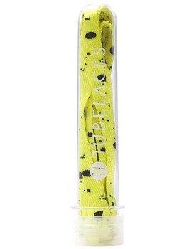sznurowadła TUBELACES - WHITE FLAT SPLATTER YELLOW (130 cm)