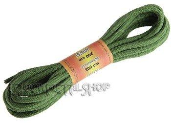 sznurowadła okrągłe OLIWKOWE (200k)