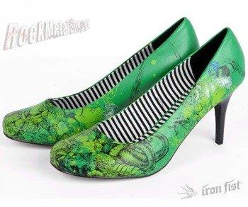szpilki IRON FIST (Genocide Heels)(GREEN) '09