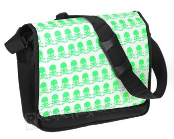 torba LONGTIME GOTHIC - PIRATE SKULL BLACK/GREEN