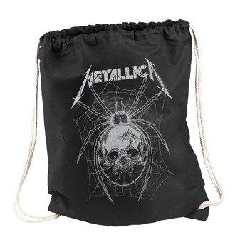 worek/plecak METALLICA - GREY SPIDER BLACK DRAWSTRING
