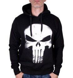 bluza THE PUNISHER - LOGO, z kapturem