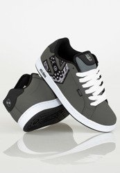 buty METAL MULISHA - ETNIES FADER DARK GREY BLACK WHITE