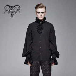 koszula męska PUNK RAVE - PUFF (black)
