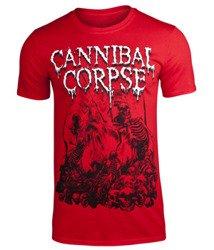 koszulka CANNIBAL CORPSE - PILE OF SKULLS 2018 (RED)