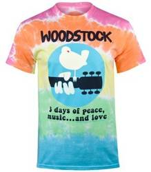 koszulka WOODSTOCK - BANDED, barwiona