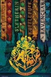 plakat HARRY POTTER - HOUSE FLAGS