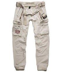 spodnie bojówki ROYAL TRAVELER SLIMMY - ROYALWHITE