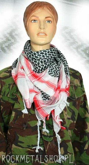 Arafatka czerwono-czarno-biała