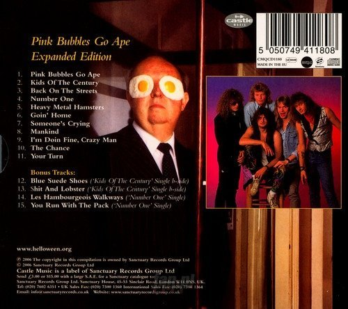 HELLOWEEN:  PINK BUBBLES GO APE (CD)