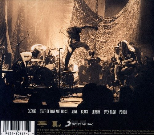 PEARL JAM:  MTV UNPLUGGED (CD)