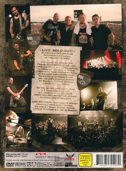 VOLBEAT: LIVE - SOLD OUT ! 2007 (2DVD)