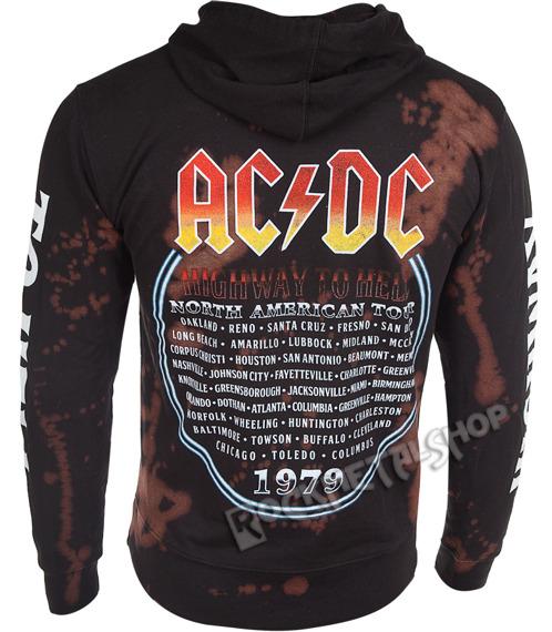 bluza AC/DC - HIGHWAY TO HELL, kangurka z kapturem barwiona