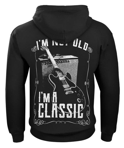 bluza  I'M NOT OLD, I'M A CLASSIC rozpinana, z kapturem