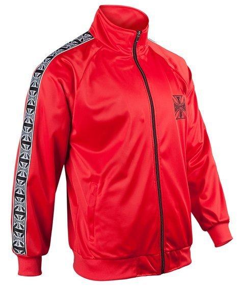 bluza rozpinana WEST COAST CHOPPERS - TRACKSUIT JACKET, red, stójka rozpinana