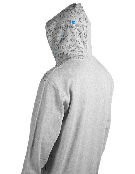 bluza z suwakiem - DC (TONIGHT ZIP HOOD) grey