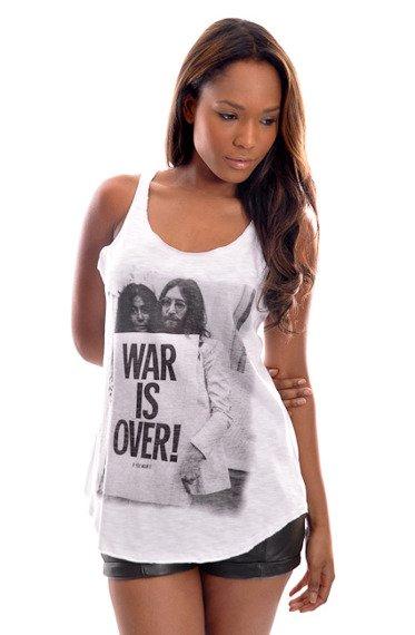 bluzka damska LENNON - WAR IS OVER biała