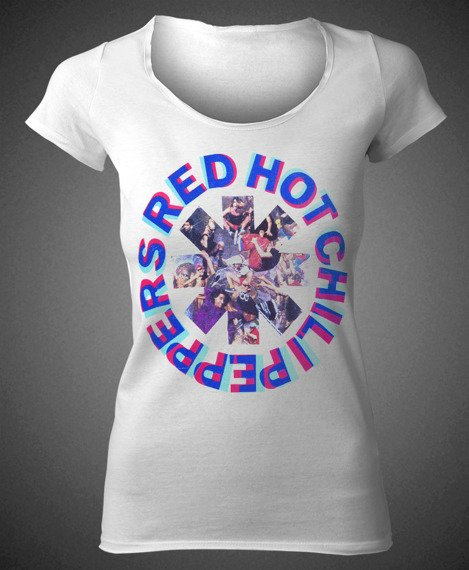 bluzka damska RED HOT CHILI PEPPERS - FREAKY STYLEY WHITE